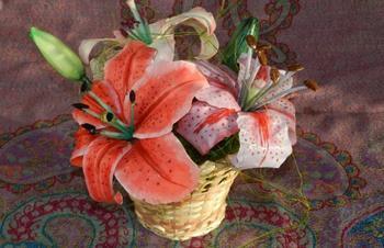 Изготовление лилии из холодного фарфора