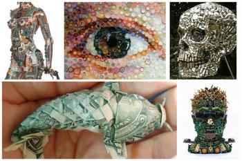 Произведения искусства из подручных материалов