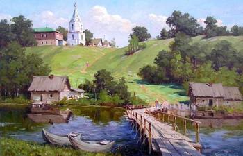 Русская глубинка в живописи Сергея Крупского