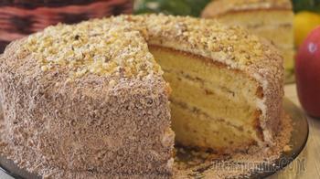 """Торт """"Сметанник"""" с Орехами. Вкусно, Готовится Быстро и Совсем Просто!"""