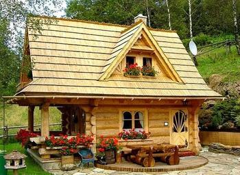 Крошечный бревенчатый дом