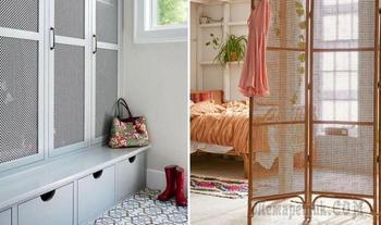24 стильных примера использования деревянных решёток в интерьере квартиры