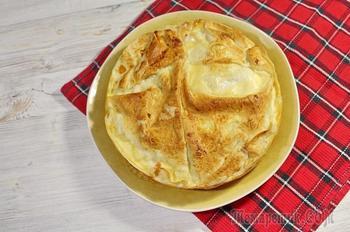 Быстрый пирог из лаваша. Очень вкусный, быстрый пирог из лаваша, куриной грудки и овощей