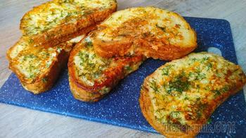 Завтрак - бомба из обычных продуктов! Вкуснейшие сырные греночки на сковороде