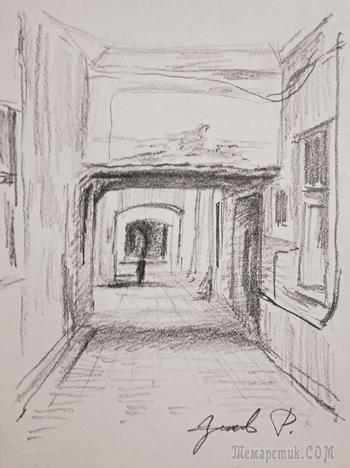 Проходные дворы Санкт-Петербурга. Как быстро рисовать!