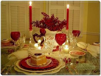 Украшаем стол ко Дню Святого Валентина