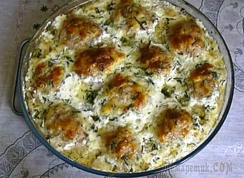Котлеты в сырном соусе в духовке