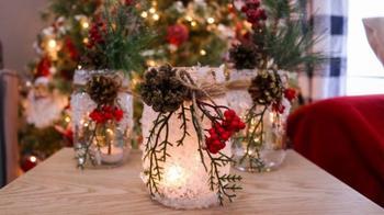 Новогодний декор из стеклянных банок