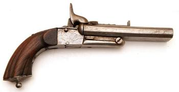 Двуствольный шпилечный пистолет boxlock (pinfire double barrel pistol boxlock) и его разновидности