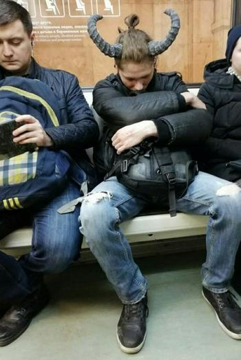 Странные пассажиры метро
