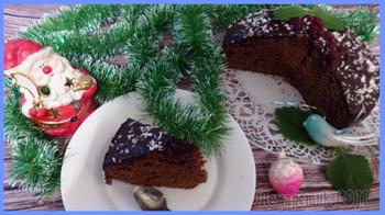 Пряничный шоколадный пирог , готовится быстро , результат супер !