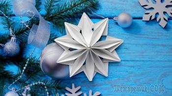 Снежинка из бумаги Новогодние поделки