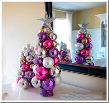 Новогодняя елка своими руками из шаров