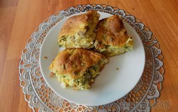 Заливной пирог с начинкой из капусты и фарша. Видео рецепт