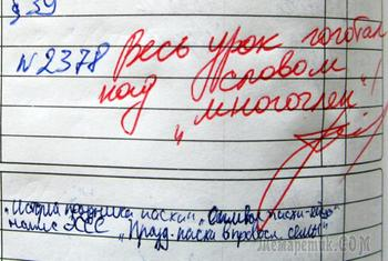 Итоги года в потешных заметках из дневников школьников
