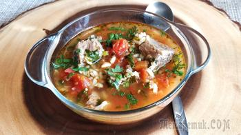 Грузинский суп харчо из говядины с рисом