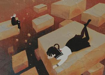 Школьницы и меланхолия — сонные аниме-арты