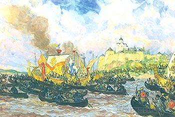 Как русы, ещё до Александра Невского, наваляли шведам знатно в 1164 году.