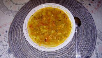 Суп из чечевицы и нута