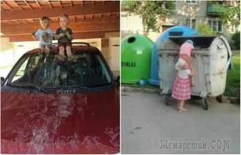 20 снимков, демонстрирующих, что случается, когда детишки остаются без присмотра
