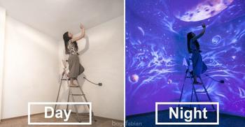 Как художница из Венгрии создает шедевры, увидеть которые можно только при определенных условиях