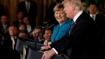 Первая встреча Трампа и Меркель состоялась