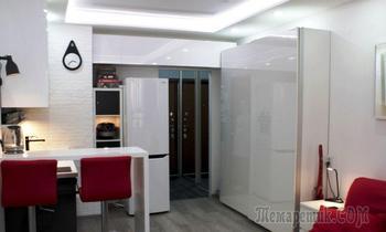 22 квадратных метра: ремонт в комнате и прихожей