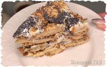 Торт из пряников с бананами и сметаной. Короткий видео рецепт