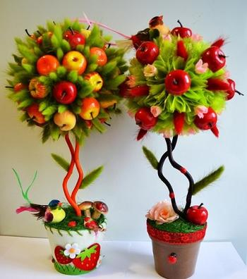 Топиарий из фруктов: дерево счастья своими руками