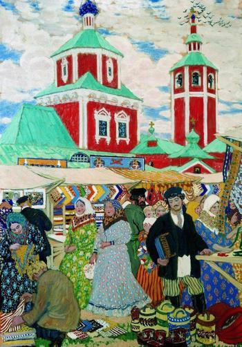 Щедрые традиционные ярмарки на картинах известных русских художников