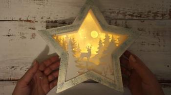 Волшебный зимний светильник