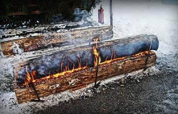 Нодья – костер, может гореть целую ночь напролет без «подкормки»