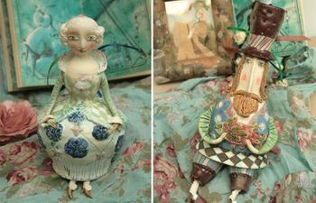 Милые керамические фигурки от русской мастерицы