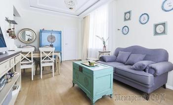 Квартира 52 м² в стиле прованс на Якиманке