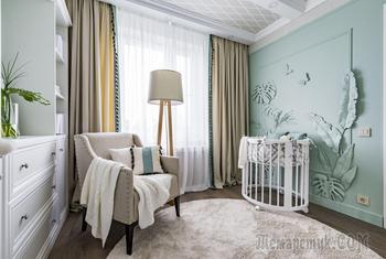 Нежный и уютный интерьер детской