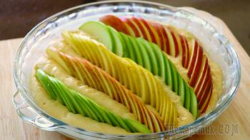 Яблочный пирог на кефире, который тает во рту // Забудьте о шарлотке!