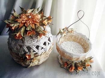 Ветвь цветов из акварельной бумаги