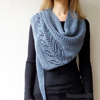 Вязание шали — схема вязания крючком