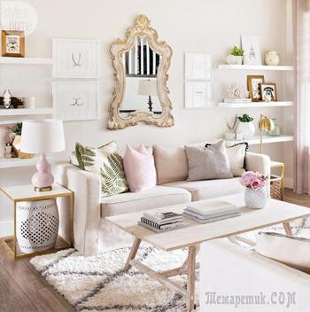 Гармония пастельных оттенков в интерьере дома в Канаде