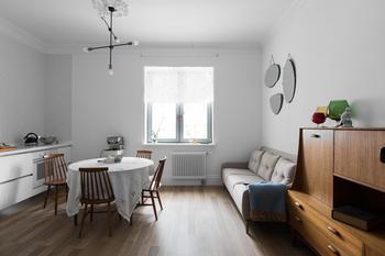 Лаконичная квартира в шведском стиле в новом доме на Петроградской стороне (Петербург)