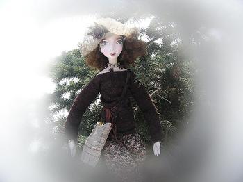 Моя новенькая куколка из папье маше...Художница...
