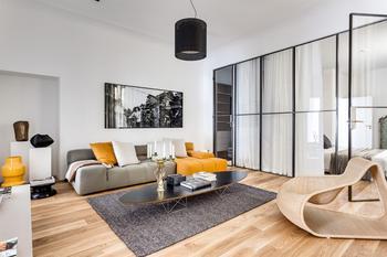 Современная двухкомнатная квартира в Швеции