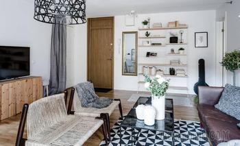 Черно-белая квартира в 49 м²