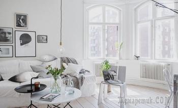Магия белого: парижская квартира с округлой стеной