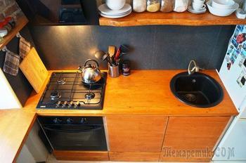 Кухня: очень бюджетная, в стиле фьюжен