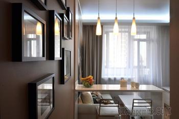 Интересный и функциональный интерьер небольшой квартиры