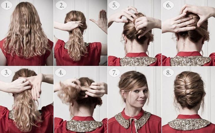 Как делают вечерние прически на средние волосы с ракушкой в домашних условиях