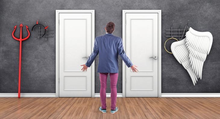 Какая дверь ведет в Рай, а какая — в Ад? Непростая загадка на логику