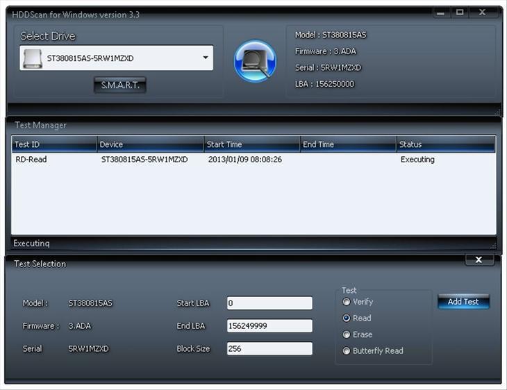 Рис. 9. Программа поиска проблем с дисками HDDScan.