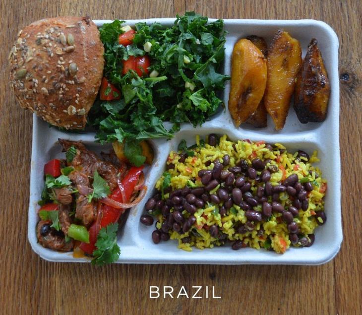 Школьный завтрак в Бразилии